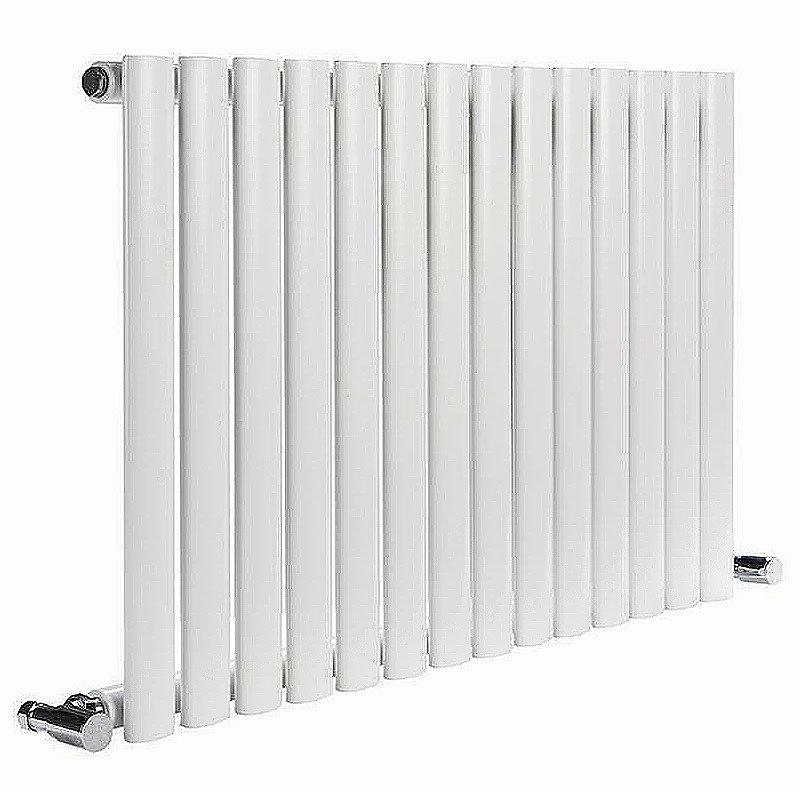 Reina Neva Horizontal Single Panel Designer Radiator - White Large Image