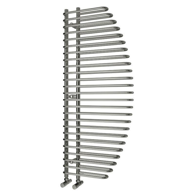 Reina Nola Steel Designer Radiator - 1400 x 600mm - Chrome Large Image