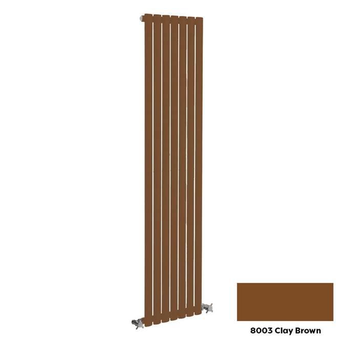 Reina Neva Vertical Single Panel Designer Radiator - 1800 x 236mm - Clay Brown