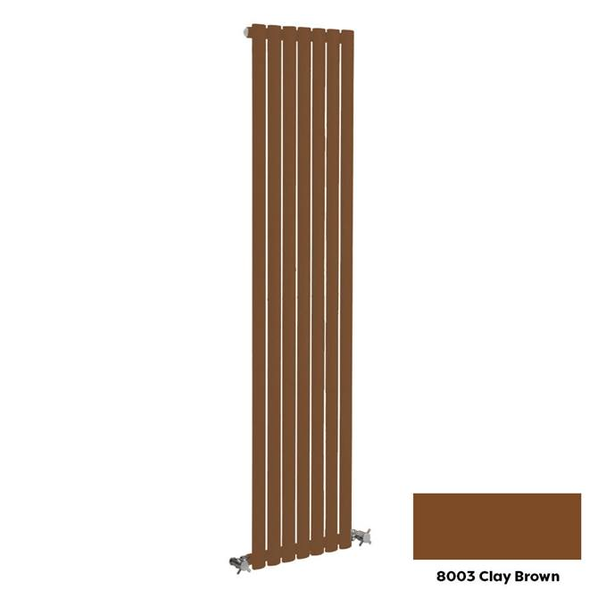 Reina Neva Vertical Single Panel Designer Radiator - 1500 x 236mm - Clay Brown