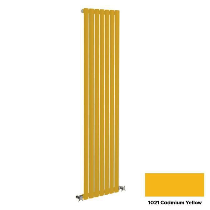 Reina Neva Vertical Single Panel Designer Radiator - 1500 x 413mm - Cadmium Yellow