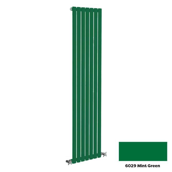Reina Neva Vertical Single Panel Designer Radiator - 1500 x 236mm - Mint Green