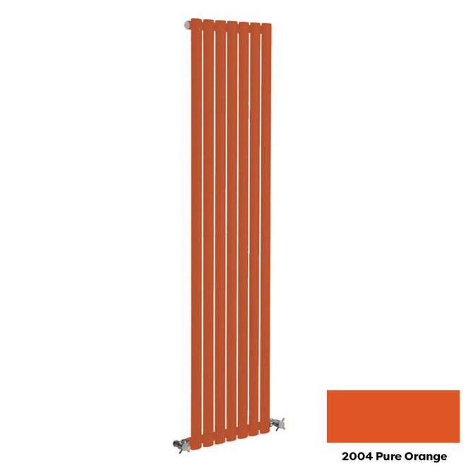 Reina Neva Vertical Single Panel Designer Radiator - 1500 x 531mm - Pure Orange