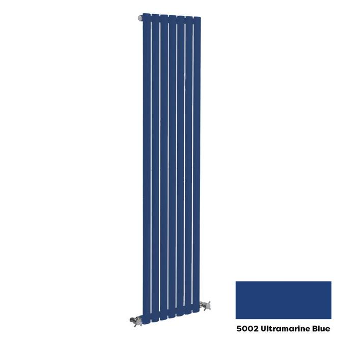 Reina Neva Vertical Single Panel Designer Radiator - 1800 x 236mm - Ultramarine Blue