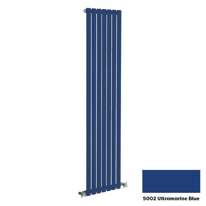Reina Neva Vertical Single Panel Designer Radiator - 1500 x 236mm - Ultramarine Blue