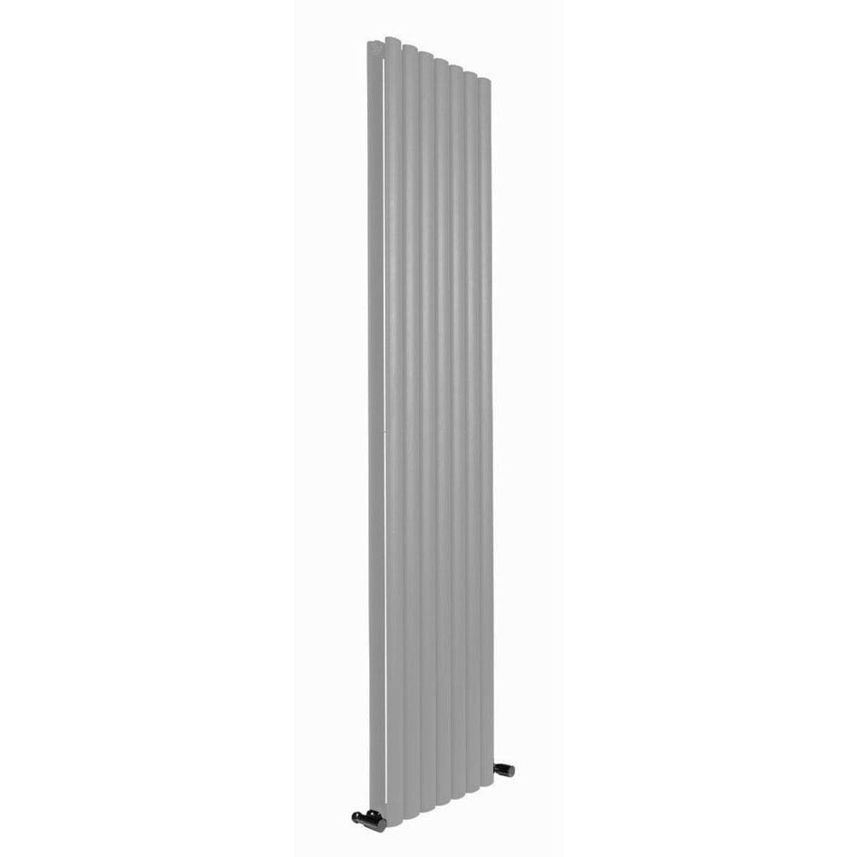 Reina Neva Vertical Double Panel Designer Radiator - Silver Large Image