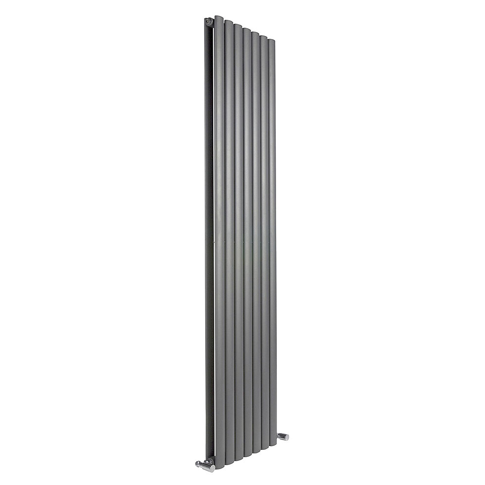 Reina Neva Vertical Double Panel Designer Radiator - Anthracite Large Image