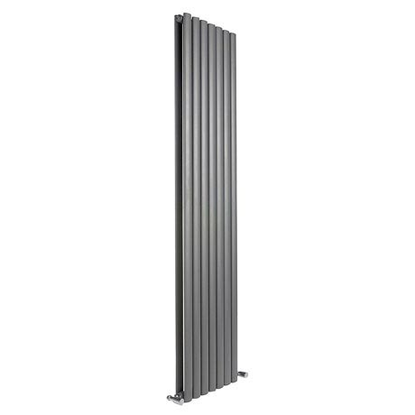 Reina Neva Vertical Double Panel Designer Radiator - Anthracite