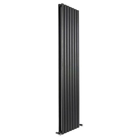 Reina Neva Vertical Double Panel Designer Radiator - Black