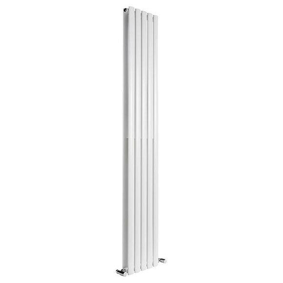 Reina Neva Vertical Double Panel Designer Radiator - White Large Image