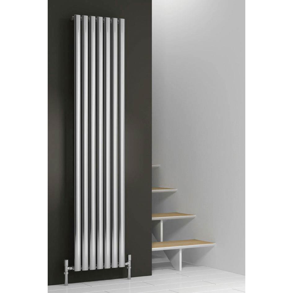 Reina Neva Vertical Single Panel Designer Radiator - Chrome Large Image