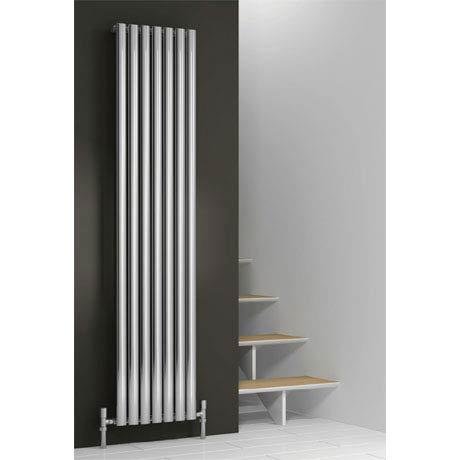 Reina Neva Vertical Single Panel Designer Radiator - Chrome