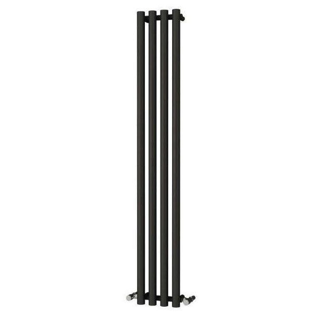 Reina Oria Vertical Steel Designer Radiator - 1800 x 270mm - Black Large Image