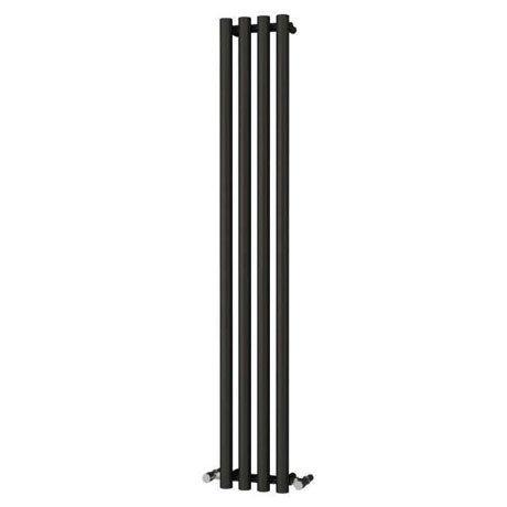 Reina Oria Vertical Steel Designer Radiator - 1800 x 270mm - Black
