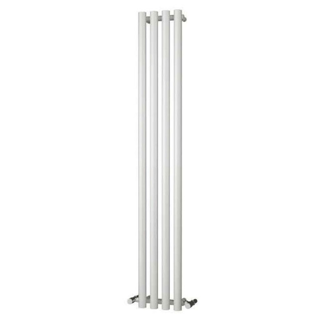 Reina Oria Vertical Steel Designer Radiator - 1800 x 270mm - White Large Image