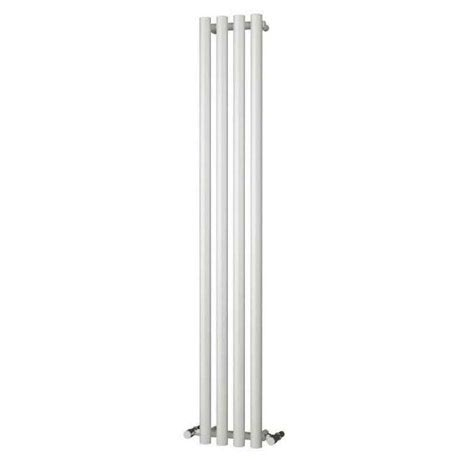 Reina Oria Vertical Steel Designer Radiator - 1800 x 270mm - White