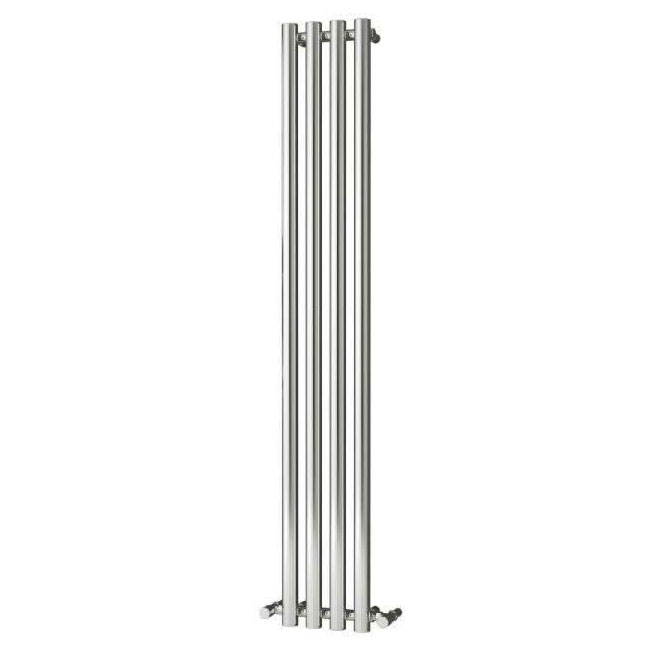 Reina Oria Vertical Steel Designer Radiator - 1800 x 270mm - Chrome Profile Large Image