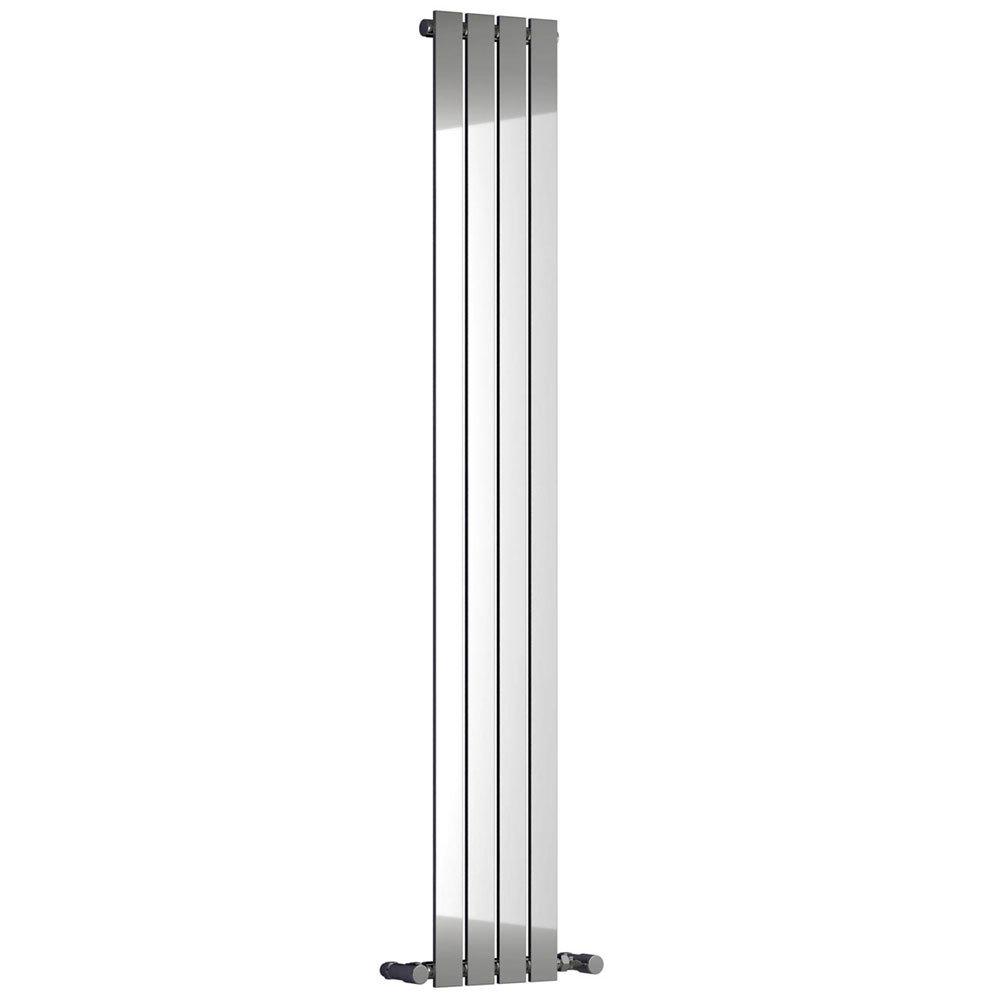 Reina Osimo Vertical Steel Designer Radiator - Chrome profile large image view 1