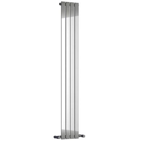 Reina Osimo Vertical Steel Designer Radiator - Chrome