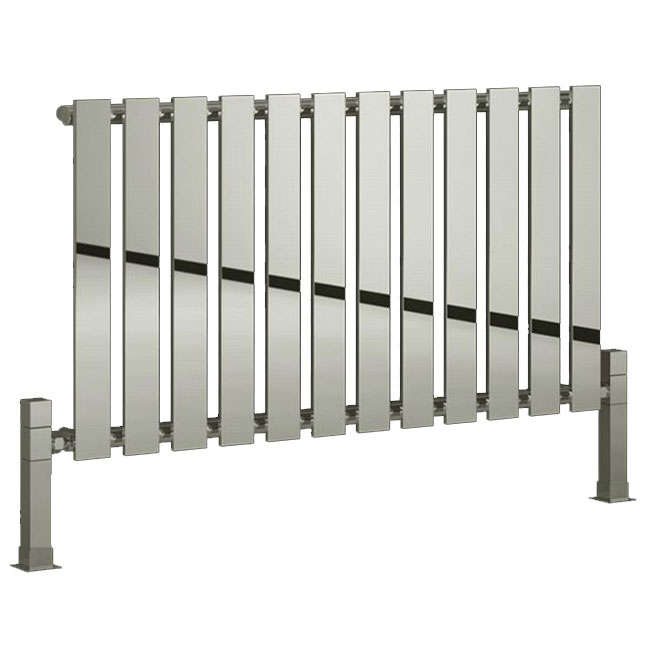 Reina Pienza Horizontal Steel Designer Radiator - Chrome Large Image