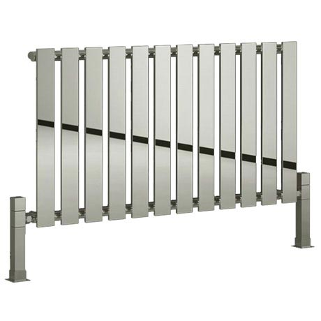 Reina Pienza Horizontal Steel Designer Radiator - Chrome