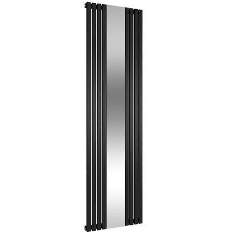 Reina Reflect Vertical Steel Designer Radiator - 1800 x 445mm - Black