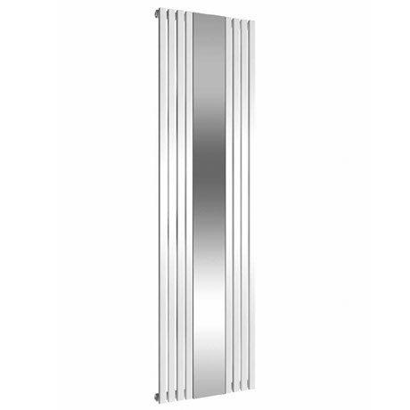 Reina Reflect Vertical Steel Designer Radiator - 1800 x 445mm - White