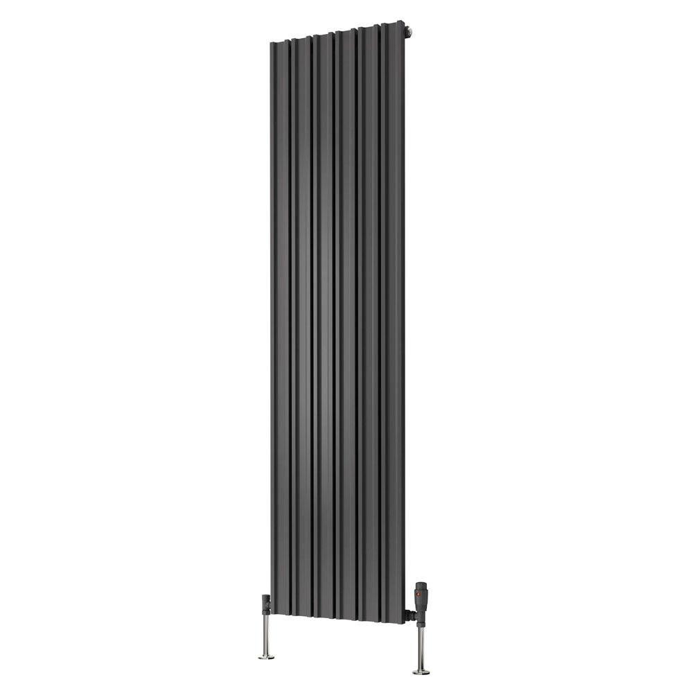 Reina Raile Vertical Steel Designer Radiator - Anthracite  Feature Large Image