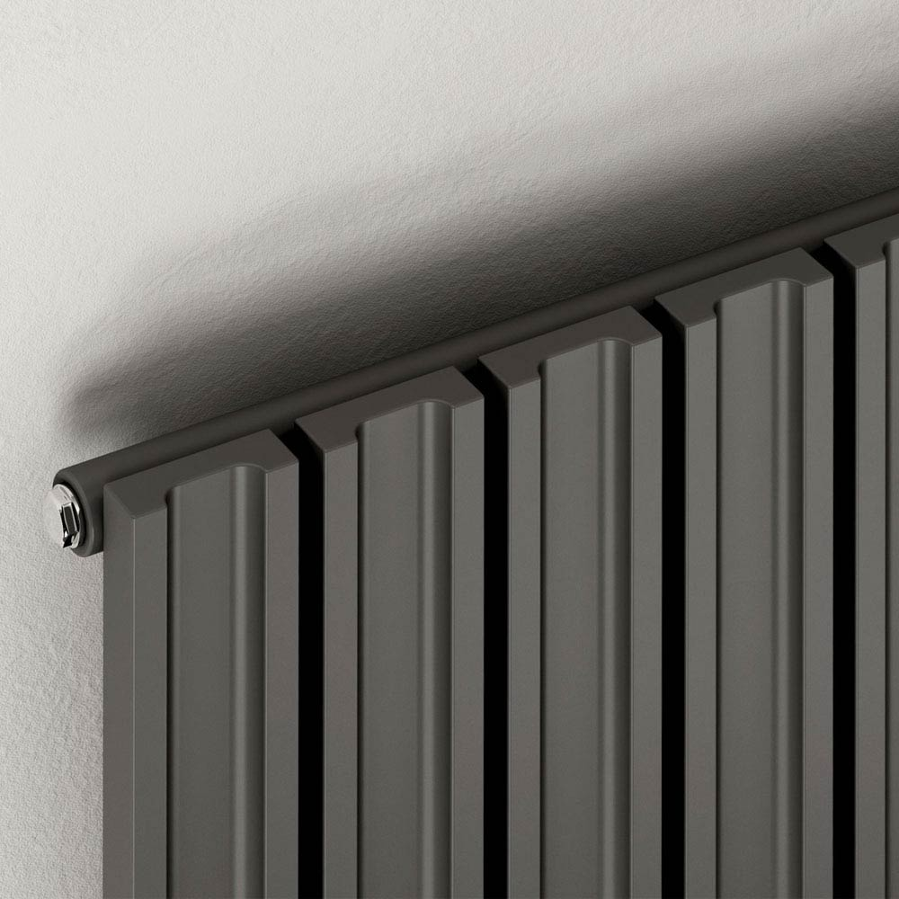 Reina Raile Vertical Steel Designer Radiator - White  Profile Large Image