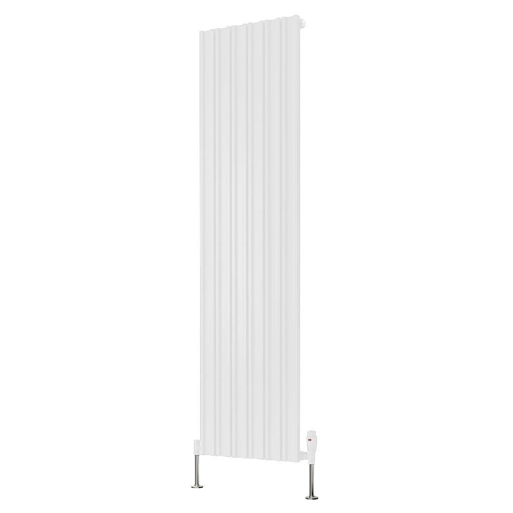 Reina Raile Vertical Steel Designer Radiator - White Large Image