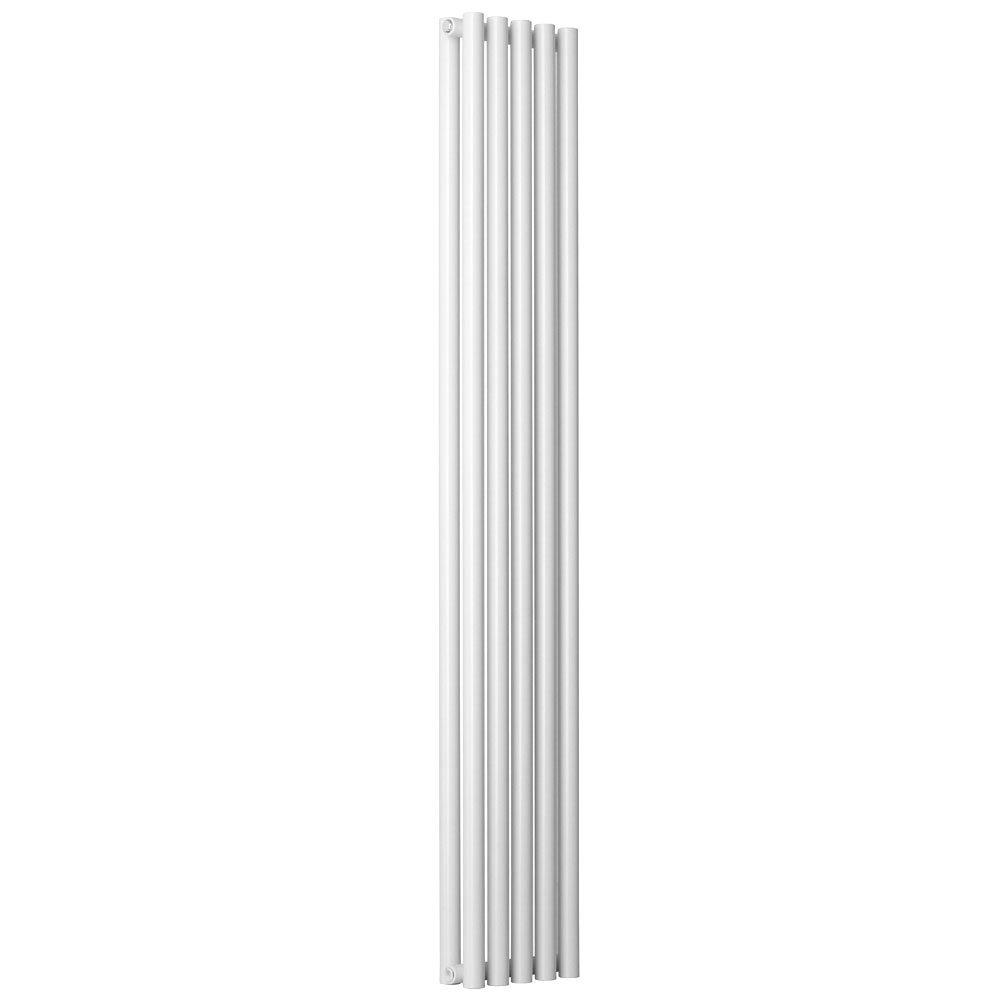Reina Round Double Panel Steel Designer Radiator - White Large Image