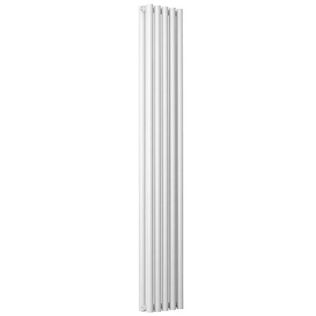 Reina Round Double Panel Steel Designer Radiator - White