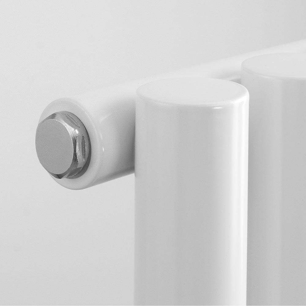 Reina Round Single Panel Steel Designer Radiator - White Profile Large Image