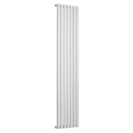 Reina Round Single Panel Steel Designer Radiator - White