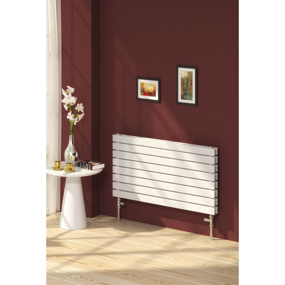 Reina Rione Double Panel Steel Designer Radiator - White profile large image view 2