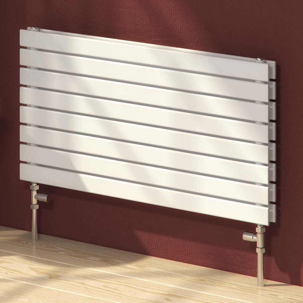 Reina Rione Double Panel Steel Designer Radiator - White profile large image view 1