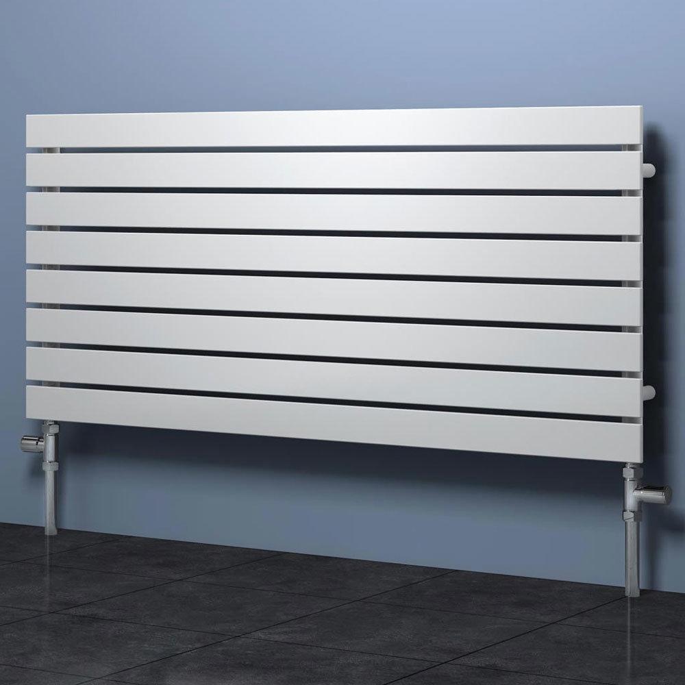 Reina Rione Single Panel Steel Designer Radiator - White profile large image view 1