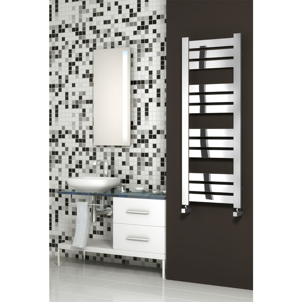Reina Riva Steel Designer Radiator - Chrome profile large image view 2