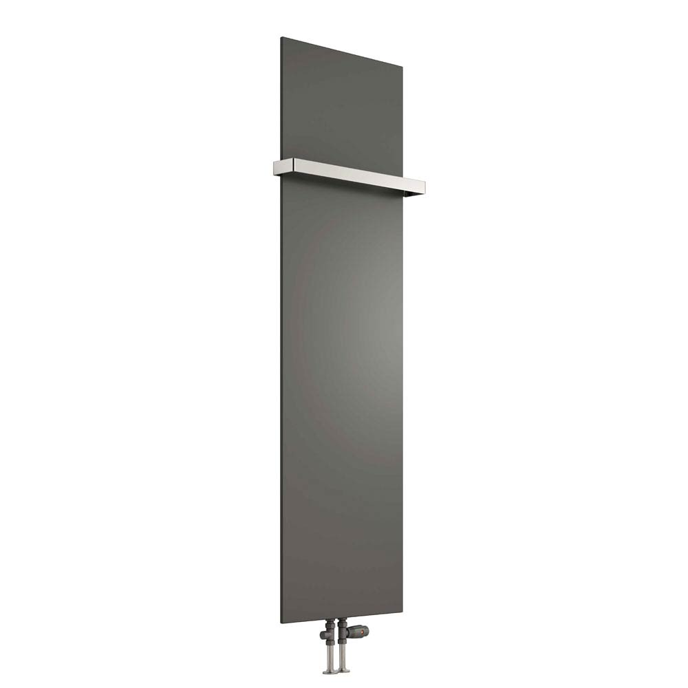 Reina Slimline Vertical Steel Designer Radiator - Anthracite profile large image view 1
