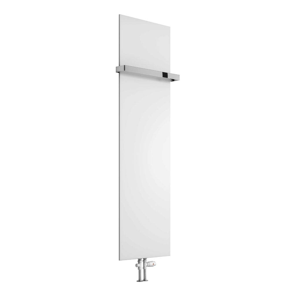 Reina Slimline Vertical Steel Designer Radiator - White profile large image view 2