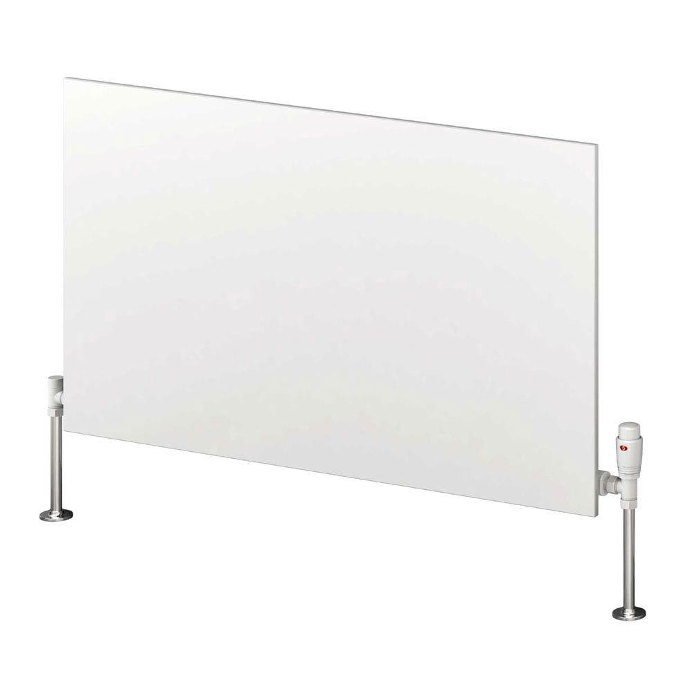 Reina Slimline Horizontal Steel Designer Radiator - White  Profile Large Image