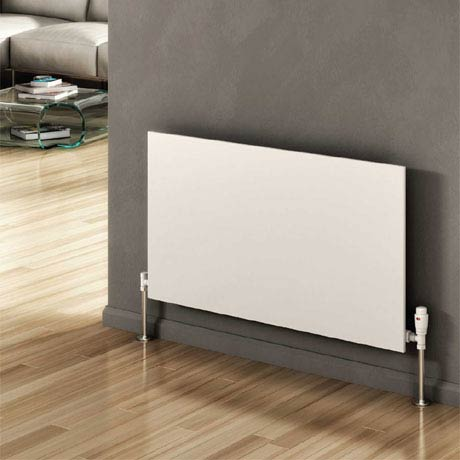 Reina Slimline Horizontal Steel Designer Radiator - White