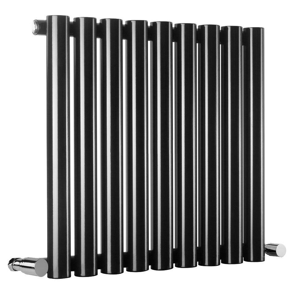 Reina Sena Horizontal Steel Designer Radiator - Black Large Image