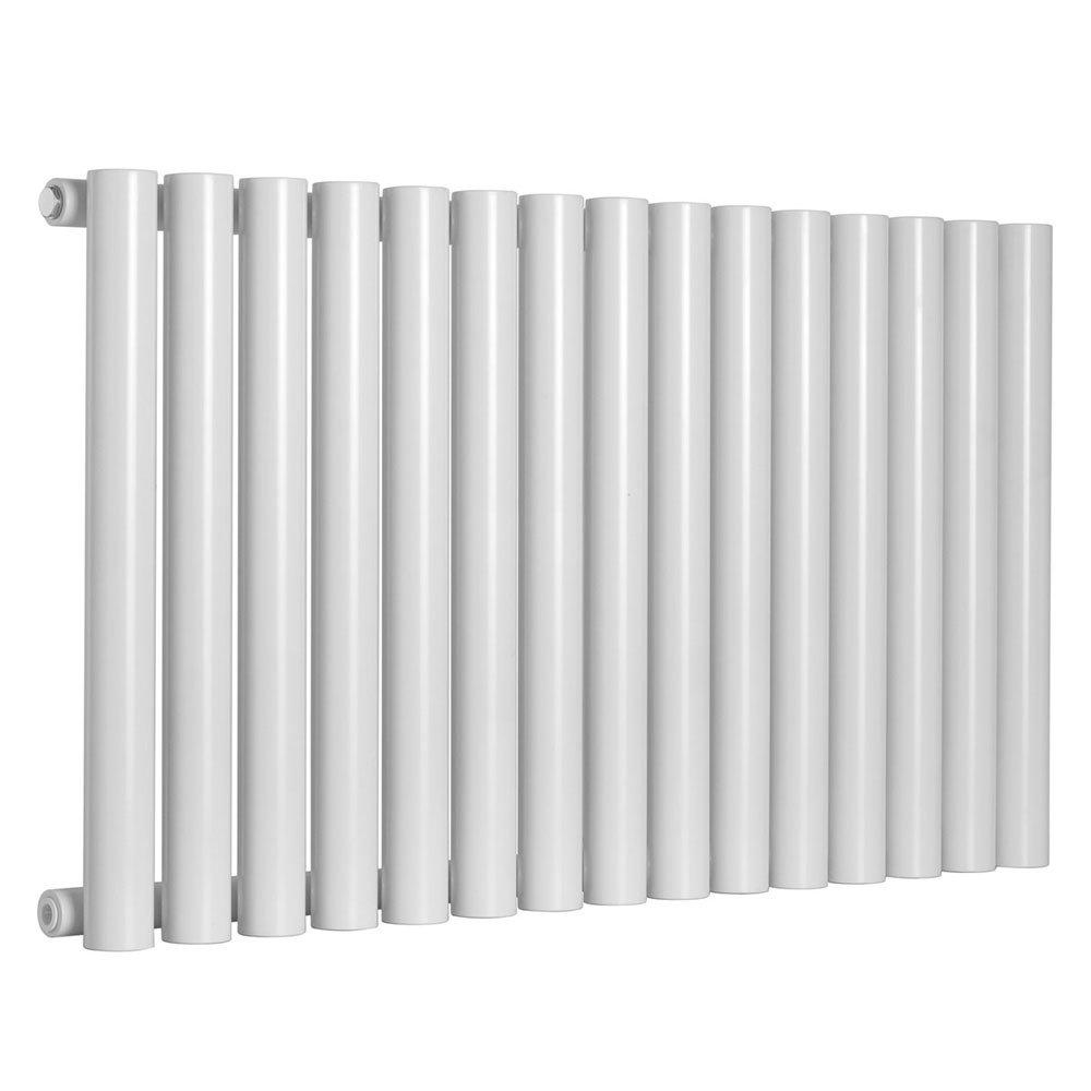Reina Sena Horizontal Steel Designer Radiator - White Large Image