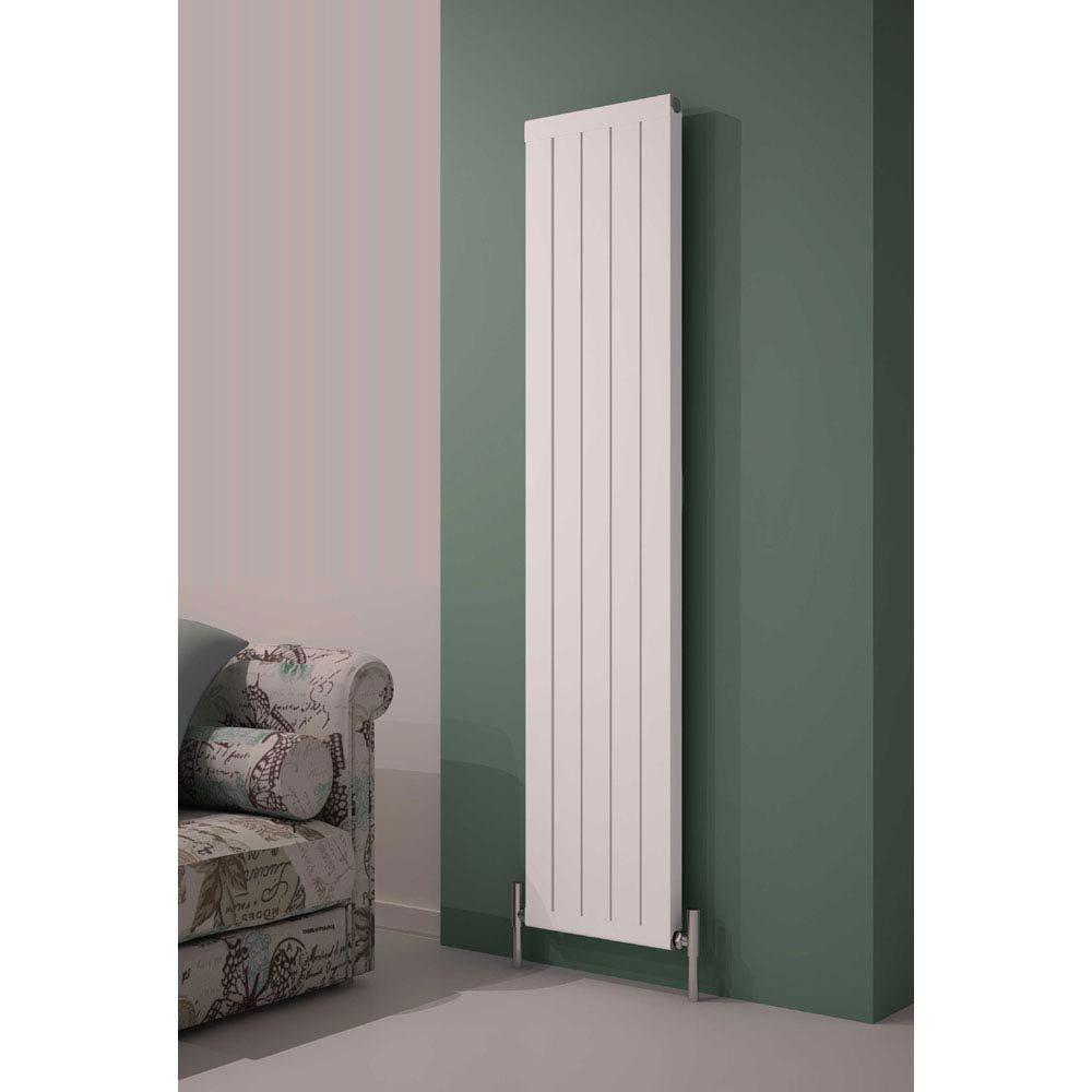 Reina Serio Vertical Aluminium Radiator - White Large Image