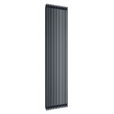 Reina Tubes Single Panel Steel Designer Radiator - 1800 x 350mm - Black