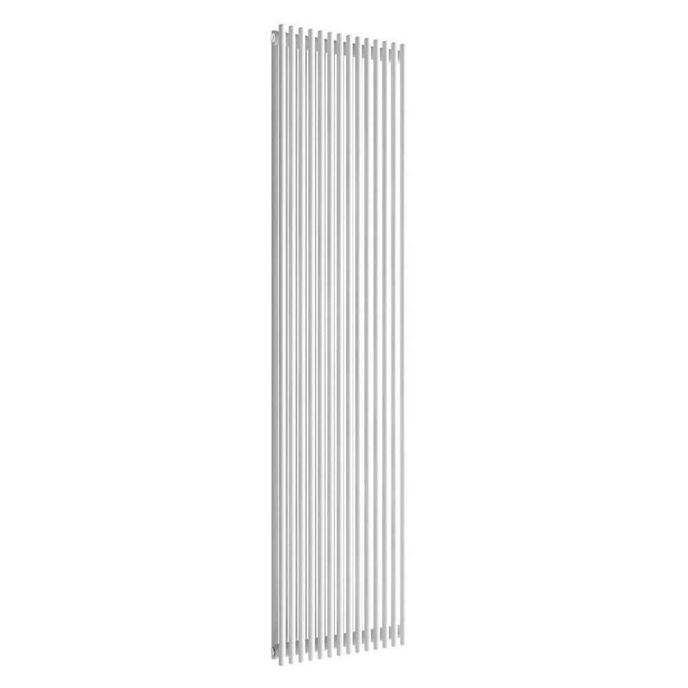 Reina Tubes Double Panel Steel Designer Radiator - 1800 x 350mm - White profile large image view 1