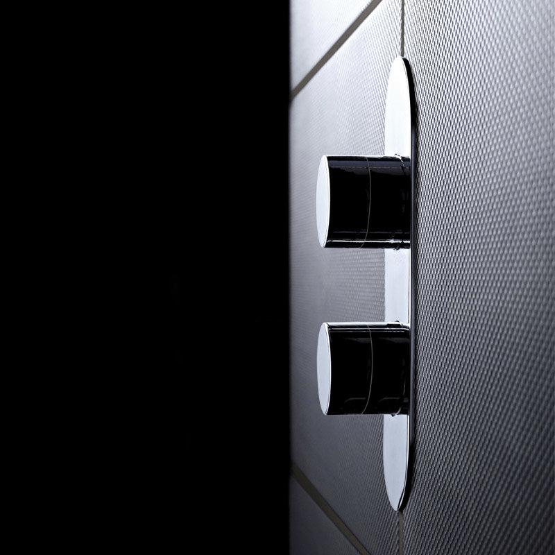 Hudson Reed Indus Twin Concealed Thermostatic Shower Valve with Diverter - RND3207 Profile Large Image