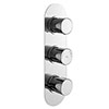 Hudson Reed Round Triple Concealed Thermostatic Shower Valve with Diverter - RNDTR03 profile small image view 1