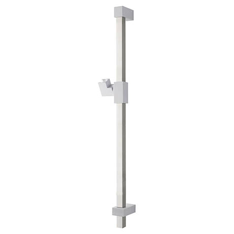 MX Combo Air Adjustable Shower Riser Rail - White/Chrome - RNP
